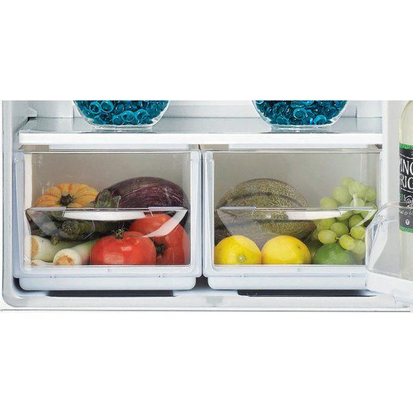 Indesit Fridge Freezer split salad drawer