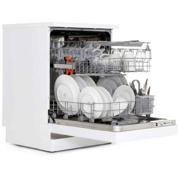 Hotpoint Dishwasher and baskets pulled out
