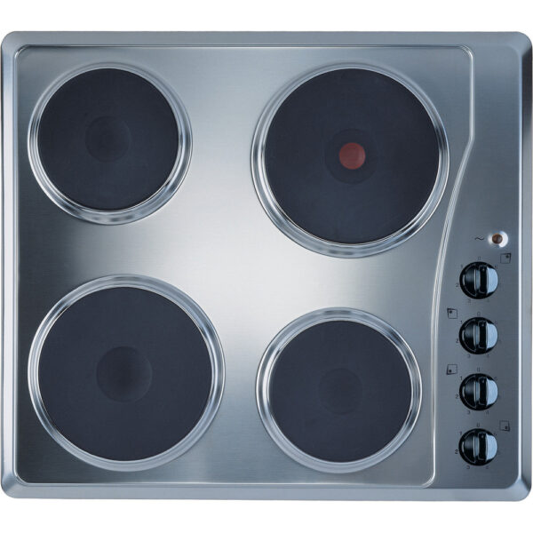 Indesit solid plate hob - stainless steel