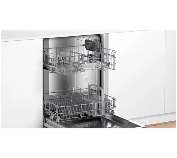 Bosch Fully Integrated Dishwasher with the door fully open