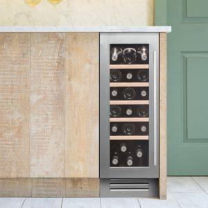 Caple 19 bottle wine cabinet - silver