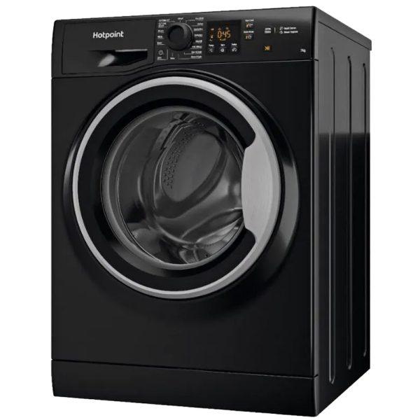 Hotpoint Washing Machine - Black - on an angle