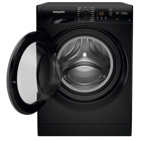 Hotpoint Washing Machine - Black - with the door open