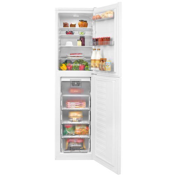 Beko Frost Free Fridge Freezer with the doors open