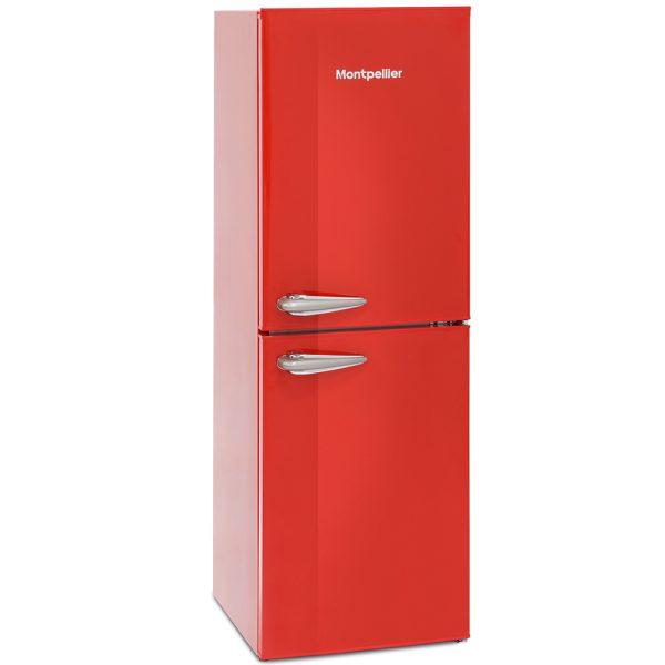 Montpellier Retro Fridge Freezer - Red