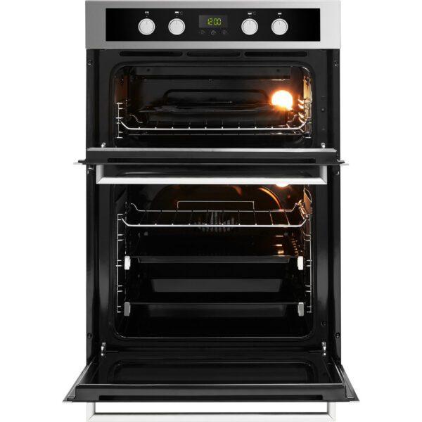 Whirlpool Double Oven with the doors open