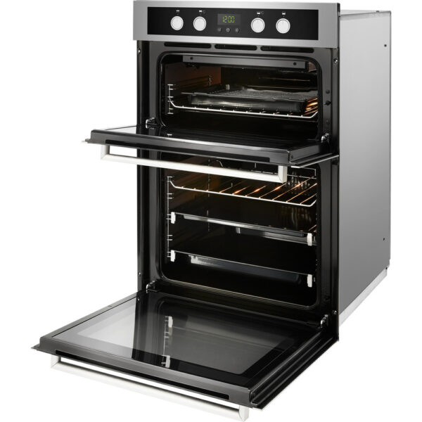 Whirlpool Double Oven on an angle with the door open