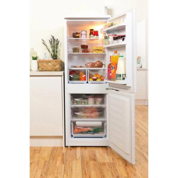 Indesit Fridge Freezer - with the door open