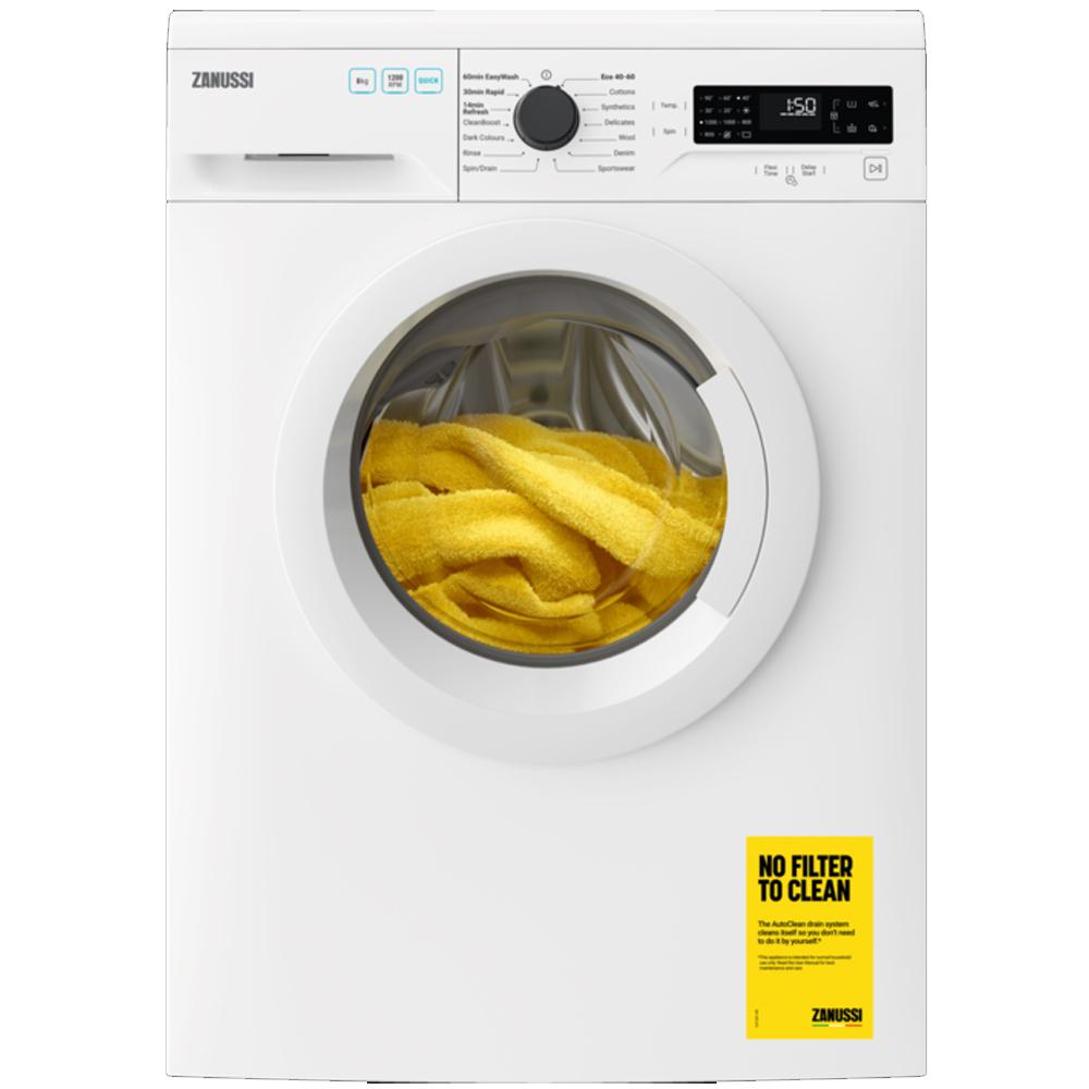 Zanussi Washing Machine 8kg/1200rpm